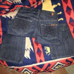 7 FOR ALL MANKIND BOOT CUT SZ 24 JEANS